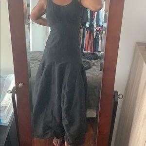 Halston long black gown size 4 US
